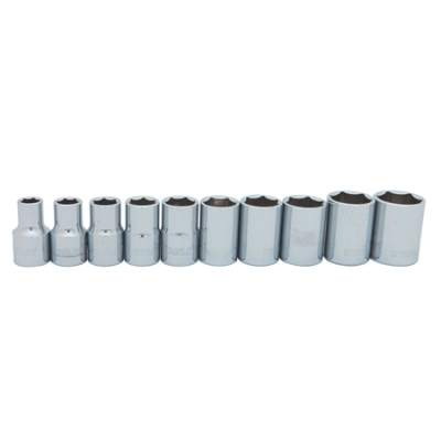 10 pc 12 in Drive Standard Socket Set SAE 95-444