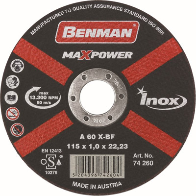 CUTTING DISK FOR INOX MAXPOWER-0864