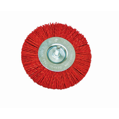 NYLON WHEEL BRUSH WITH SHANK-0954